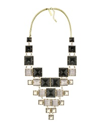 Kendra Scott Maddox Statement Necklace Black Leopard