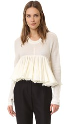 Philosophy Di Lorenzo Serafini Peplum Sweater White