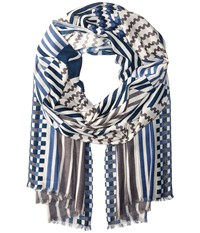 Echo All Striped Up Oblong Navy Scarves