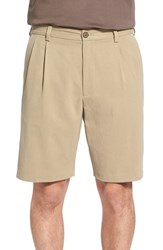 Men's Tommy Bahama 'New St. Thomas' Pleated Silk And Cotton Shorts