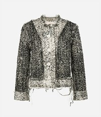 Christopher Kane Tweed Cropped Jacket Nude And Neutrals