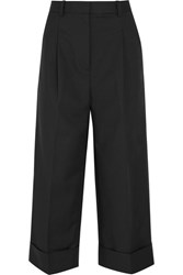 3.1 Phillip Lim Cropped Cotton Blend Wide Leg Pants Black