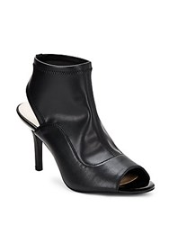 Nine West Open Toe Cutout Booties Black