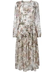 Zimmermann Floral Layered Gown White