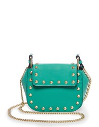 Brian Atwood Ricki Leather Crossbody Bag Aqua