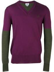 Vivienne Westwood Man Two Tone Sweater Pink And Purple