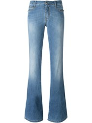 Ermanno Scervino Stretch Flared Jeans Blue