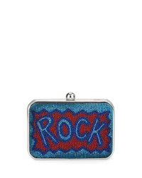 Franchi Rock Sequin Box Clutch Bag