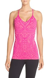 Women's Climawear 'On Point' Jacquard Knit Tank Party Pink Tahiti Pink