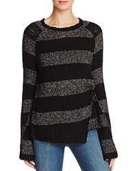 Pam And Gela Offset Stripe Sweater Black Black
