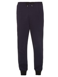 Mcq By Alexander Mcqueen Relaxed Cotton Jersey Tack Pants Navy