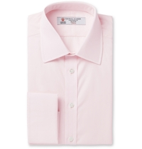 Turnbull And Asser Pink Double Cuff Cotton Shirt