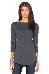 Michael Stars Long Sleeve Boatneck Tunic Gray