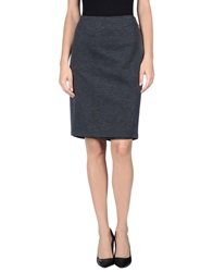 Mariella Rosati Knee Length Skirts Slate Blue