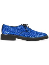 Giuseppe Zanotti Design Glitter Lace Up Shoes Blue