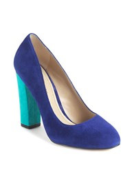 Lord And Taylor Connely Colorblocked Pump Blue