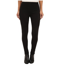 Lauren Ralph Lauren Moto Style Topstitch Legging Black Women's Clothing