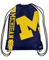 Forever Collectibles Michigan Wolverines Big Logo Drawstring Bag Navy