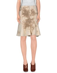 Escada Sport Denim Denim Skirts Women Ivory