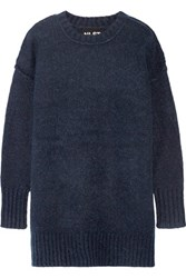 Nlst Oversized Knitted Sweater Navy
