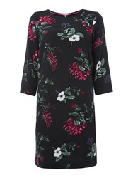 Joules Woven Printed Shift Dress Black