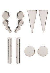 Only Onljawa 4Pack Earrings Silvercoloured Camel