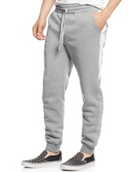 Ring Of Fire Racing Stripe Jogger Pants Heather Gray