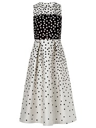 Lk Bennett L.K. Frankie Polka Dot Dress Black Cream