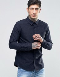 Another Influence Flecked Shirt Navy