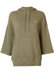 R 13 R13 Front Pocket Hoodie Green