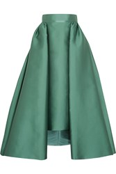 Merchant Archive Pleated Satin Skirt Green