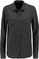 7 For All Mankind Uniform Chambray Shirt Gray
