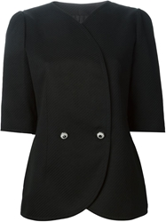 Jean Louis Scherrer Vintage Cropped Stylised Blazer Black