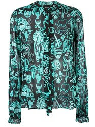 Just Cavalli Western Print Shirt Green