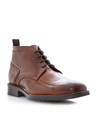 Roland Cartier Cromwell Lace Up Casual Boots Tan