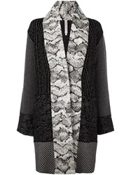 Antonio Marras 'Snake Print Patterned' Cardi Coat Black