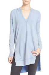 Free People Women's 'Queen Of Hearts' Hooded Tunic Blue