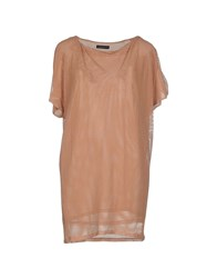 New York Industrie Topwear T Shirts Women Skin Color
