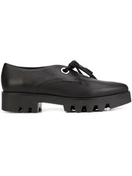 Pollini Chunky Lace Up Shoes Black