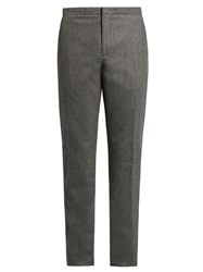 Incotex Slim Leg Wool Trousers Grey