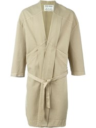 Henrik Vibskov 'Chock Long' Single Breasted Coat Nude And Neutrals