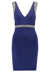 Tfnc Sidney Jersey Dress Navy Silver Dark Blue