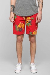 Obey Working Man Ii Short Red