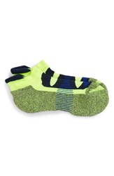 Balega Men's 'Blister Resist' No Show Running Socks Neon Yellow