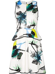 Proenza Schouler Sleeveless Floral Print Dress White