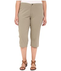 Columbia Plus Size Just Right Ii Capri Tusk Women's Capri Beige