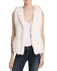 Yves Salomon Meteo By Hooded Fur Vest Petal Pink
