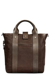 Shinola Men's 'Commuter' Leather Tote Bag Brown Deepbrown