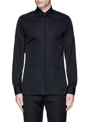 Lanvin Slim Fit Bib Front Tuxedo Shirt Black