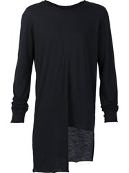 Barbara I Gongini Asymmetric T Shirt Black